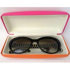 Kate Spade Black Striped/Sparkle Sunglasses